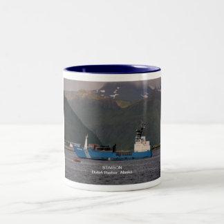 Stimson, soldados de caballería estatales de taza de café de dos colores