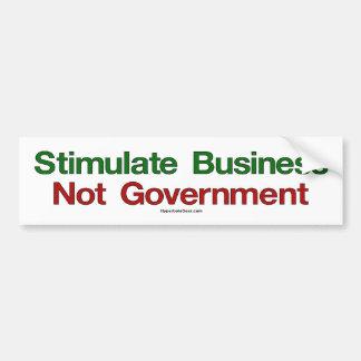 Stimulate Business, Not Government bumper sticker Car Bumper Sticker