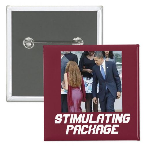 Stimulating Package Pinback Buttons