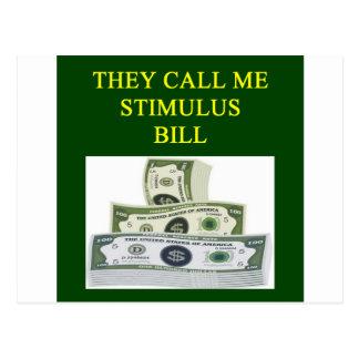 stimulus bill joke postcard