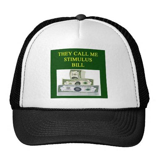 stimulus bill joke trucker hat
