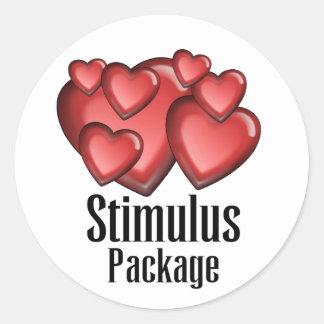 Stimulus Package Classic Round Sticker