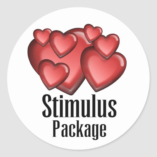 Stimulus Package Classic Round Sticker