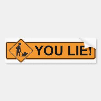Stimulus - You Lie - Anti Obama Bumper Sticker