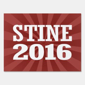 Stine - Kevin Stine 2016 Lawn Sign