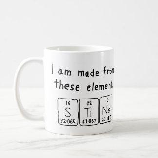 Stine periodic table name mug
