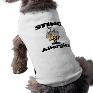 STING Allergies Dog Tshirt
