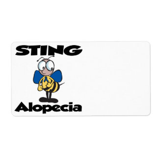 STING Alopecia Personalized Shipping Label
