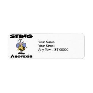 STING Anorexia Custom Return Address Label