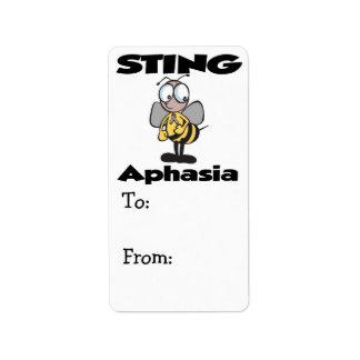 STING Aphasia Label