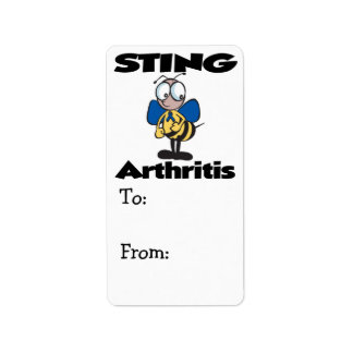 STING Arthritis Custom Address Labels