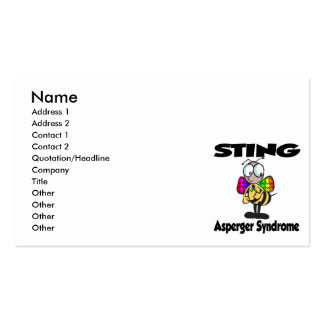 STING Asperger Syndrome Business Card