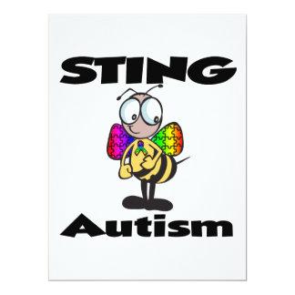 STING Autism 6.5x8.75 Paper Invitation Card