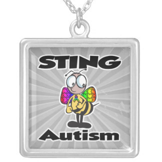 STING Autism Square Pendant Necklace