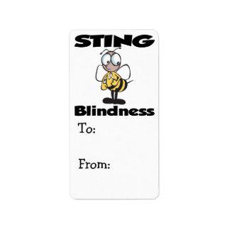 STING Blindness Custom Address Label