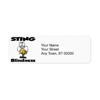 STING Blindness Return Address Label
