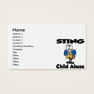 STING Child Abuse Business Card