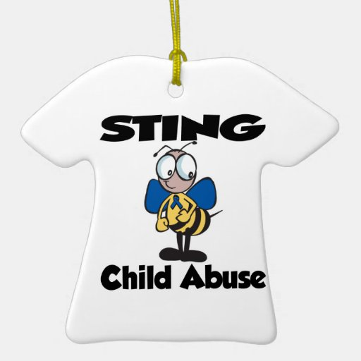 STING Child Abuse Double-Sided T-Shirt Ceramic Christmas Ornament