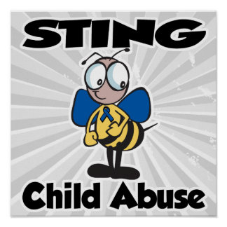 STING Child Abuse Poster