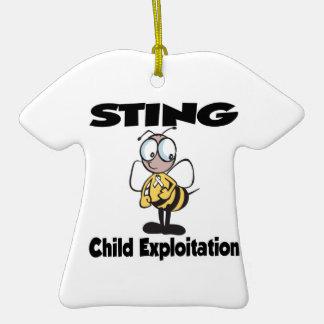 STING Child Exploitation Christmas Ornament