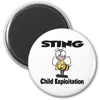 STING Child Exploitation 2 Inch Round Magnet