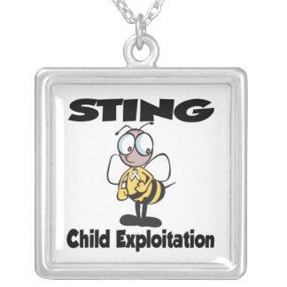 STING Child Exploitation Custom Necklace