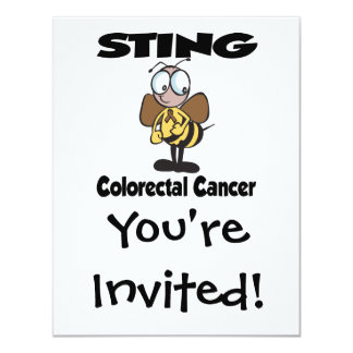 STING Colorectal Cancer 4.25x5.5 Paper Invitation Card