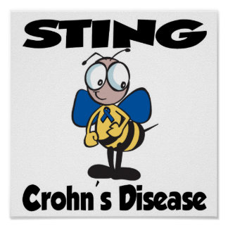 STING Crohns Disease (blue) Poster