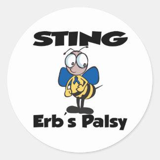 STING Erbs Palsy Round Stickers