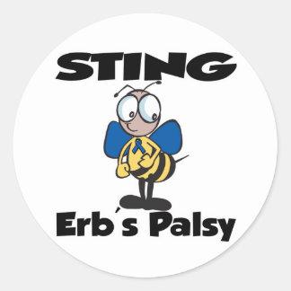 STING Erbs Palsy Round Sticker