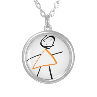 Sting girl round pendant necklace