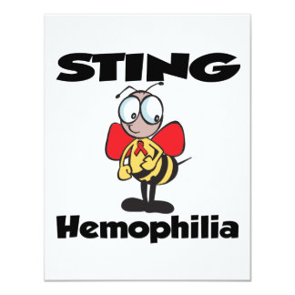 STING Hemophilia 4.25x5.5 Paper Invitation Card