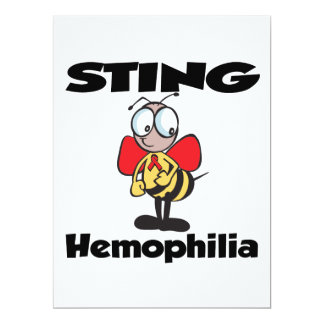 STING Hemophilia 6.5x8.75 Paper Invitation Card