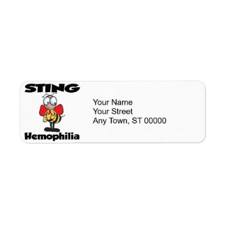 STING Hemophilia Custom Return Address Label