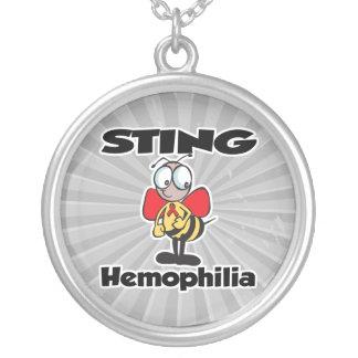 STING Hemophilia Round Pendant Necklace