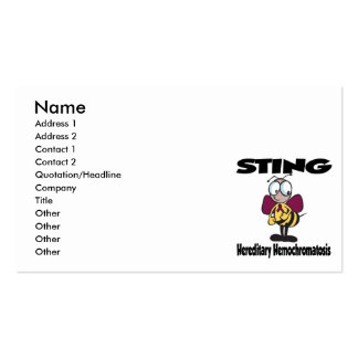 STING Hereditary Hemochromatosis Double-Sided Standard Business Cards (Pack Of 100)
