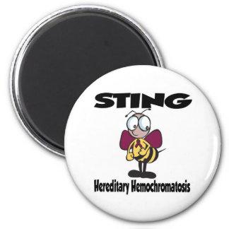 STING Hereditary Hemochromatosis 2 Inch Round Magnet