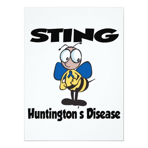 STING Huntingtons Disease 6.5x8.75 Paper Invitation Card