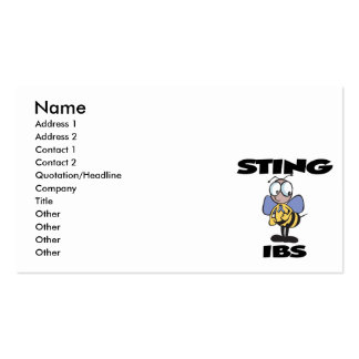 STING IBS Double-Sided STANDARD BUSINESS CARDS (Pack OF 100)