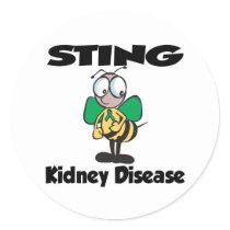STING Kidney Disease Classic Round Sticker