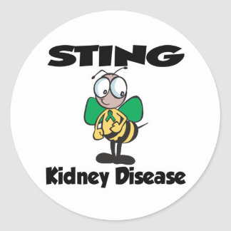 STING Kidney Disease Classic Round Sticker