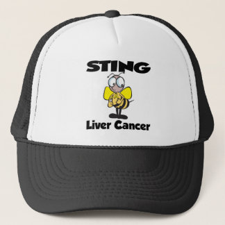 STING Liver Cancer Trucker Hat