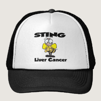 STING Liver Cancer Trucker Hat