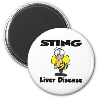 STING Liver Disease 2 Inch Round Magnet