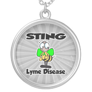 STING Lyme Disease Round Pendant Necklace