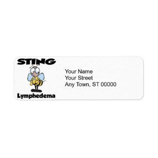 STING Lymphedema Custom Return Address Labels