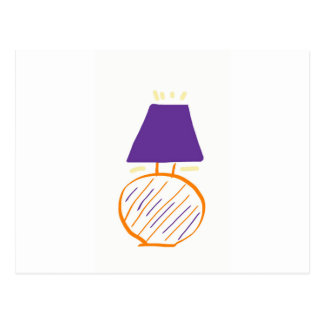 Sting man lamp postcard