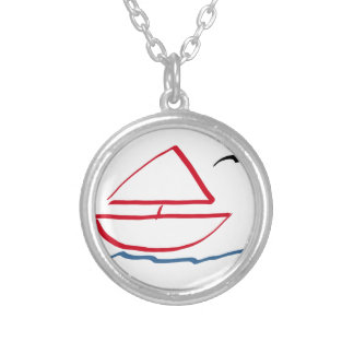 Sting man's house round pendant necklace