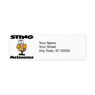 STING Melanoma Custom Return Address Label