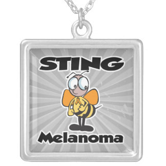 STING Melanoma Square Pendant Necklace